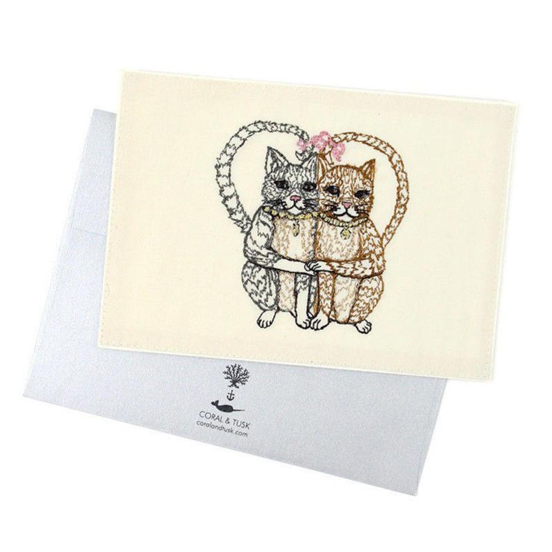 [お届けは4月中旬頃の予定です] Coral & Tusk/コーラル・アンド・タスク「 Cat Love 」グリーティングカード
