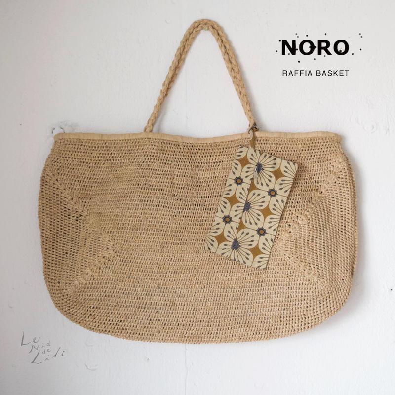 NORO  paris(ノロ)ラフィア  バッグ(ナチュラル)