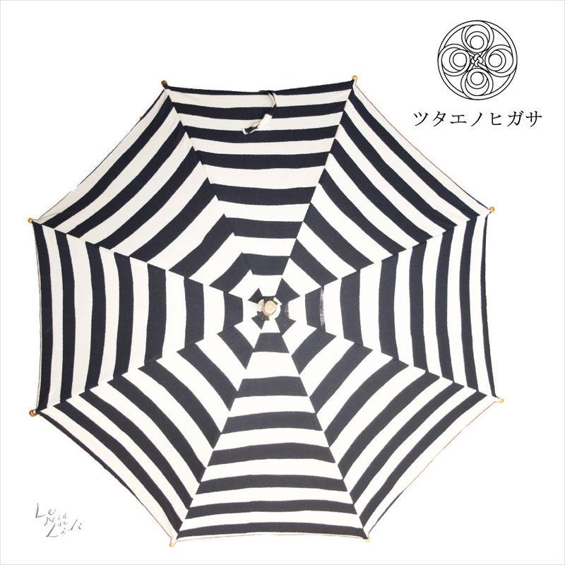 傳(ツタエノヒガサ)浜松注染 日傘/ 長傘タイプ「キツネノタスキ - 横縞 」