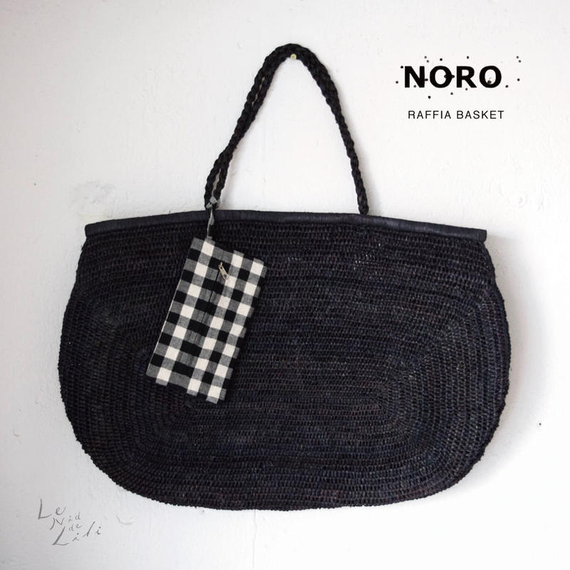 NORO  paris(ノロ)ラフィア バッグ(ブラック)