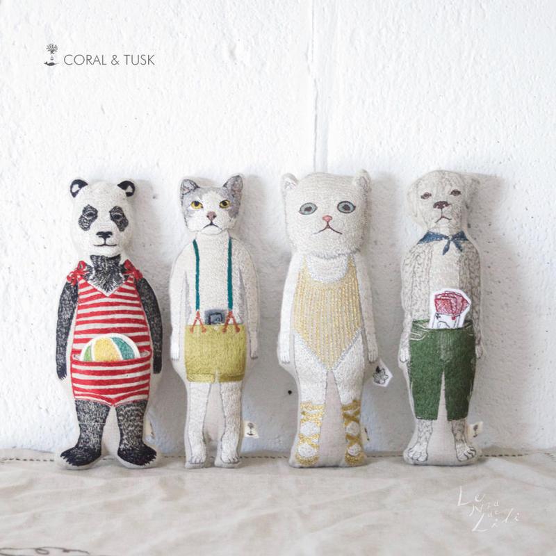 [お届けは4月中旬頃の予定です-ご予約販売] Coral & Tusk/コーラル・アンド・タスク「Animal Pocket Dolls」ポケットドール