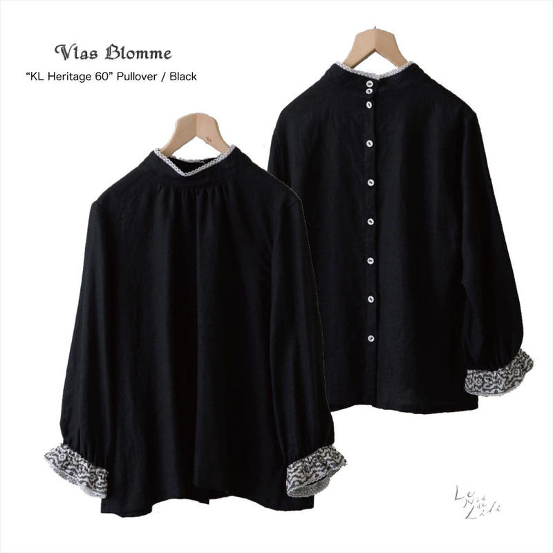 Vlas Blomme(ヴラスブラム)  KL Heritage 60 キリム刺繍プルオーバー(ブラック)13129491