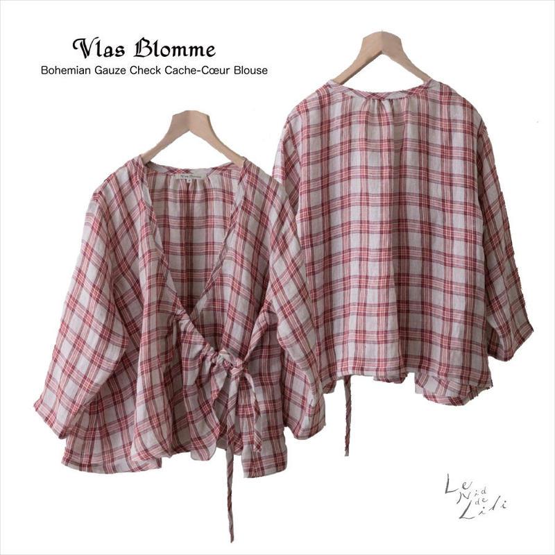Vlas Blomme(ヴラスブラム)Bohemian Gauze Check カシュクール 13129791