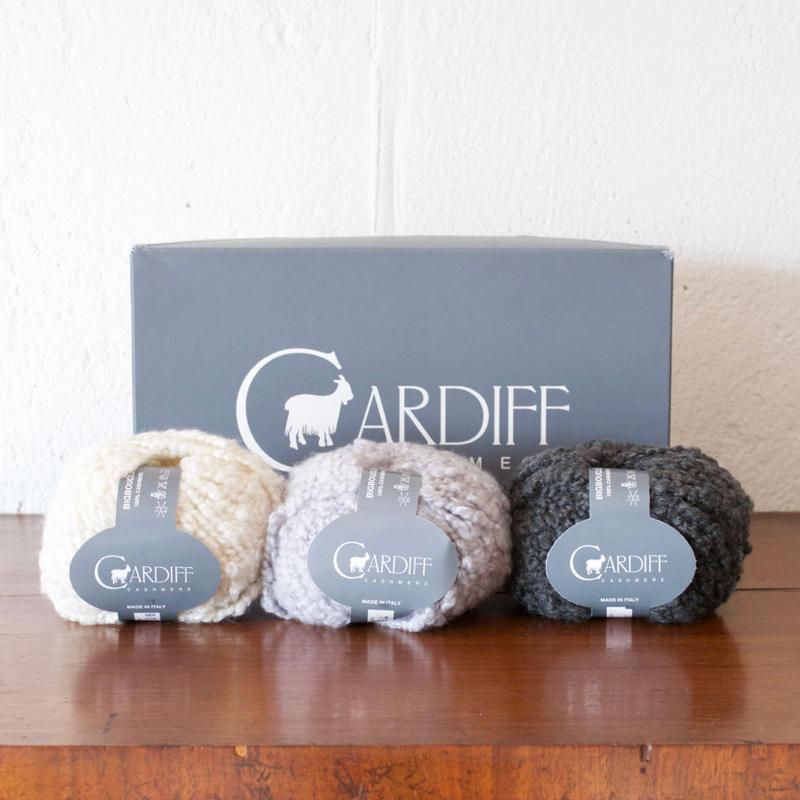 【半端糸SALE】Cardiff:100%カシミア「Big Boucle」50g小巻