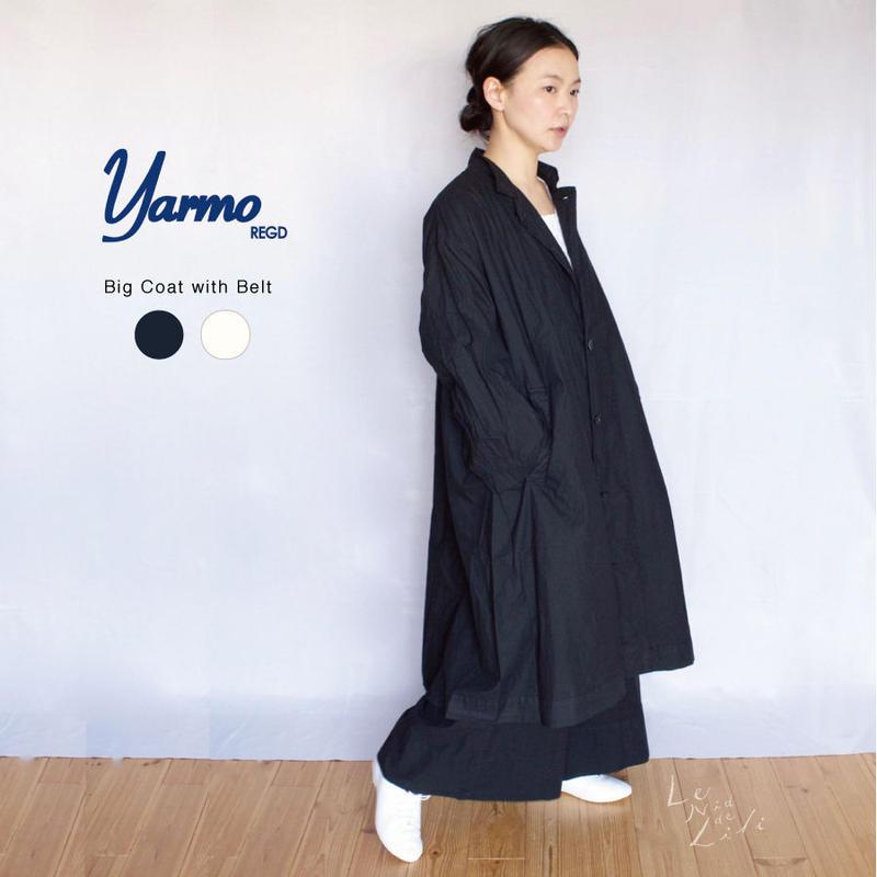 Yarmo(ヤーモ)  Big Coat with Belt ワイドシルエットコート