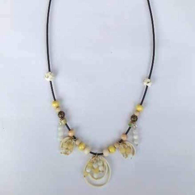 160506 ネックレス(天然石 マザーオブパール&アラゴナイト)