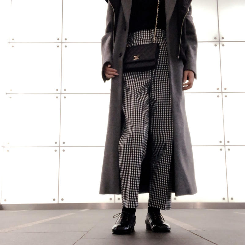 wool check pants