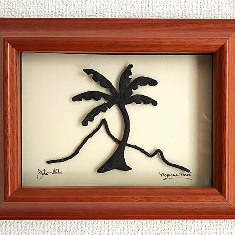 ハワイアンアート Diamond Head Palm コアウッドフレーム HNLS0735-57040