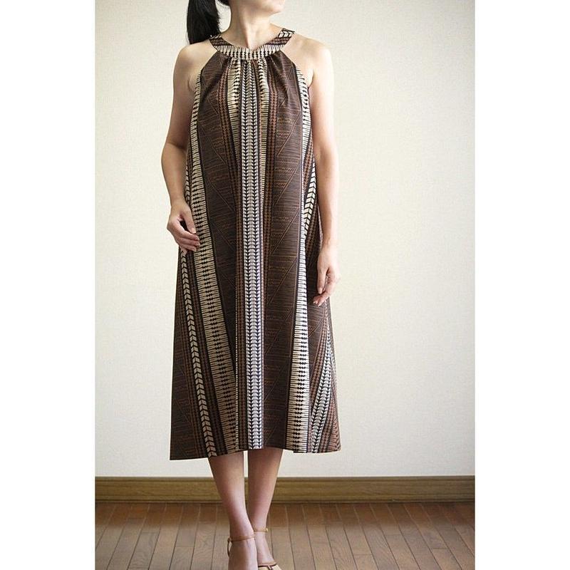 Ginger Dress タパ柄 ジンジャードレス HNLS02695-81210