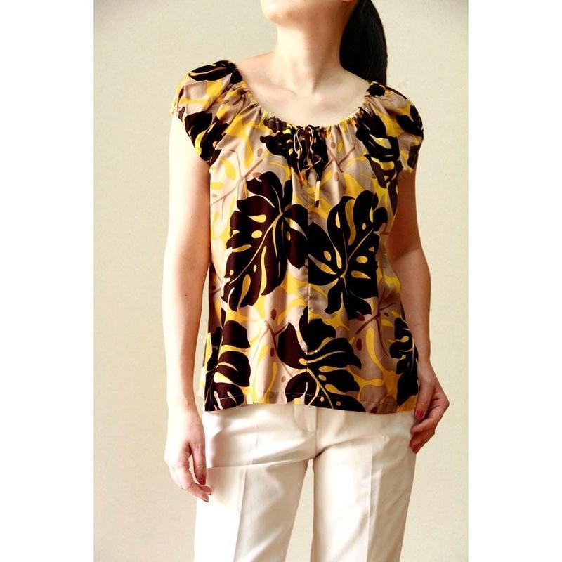 Hawaii Local Design Juliet Blouse HNLS02776-8190