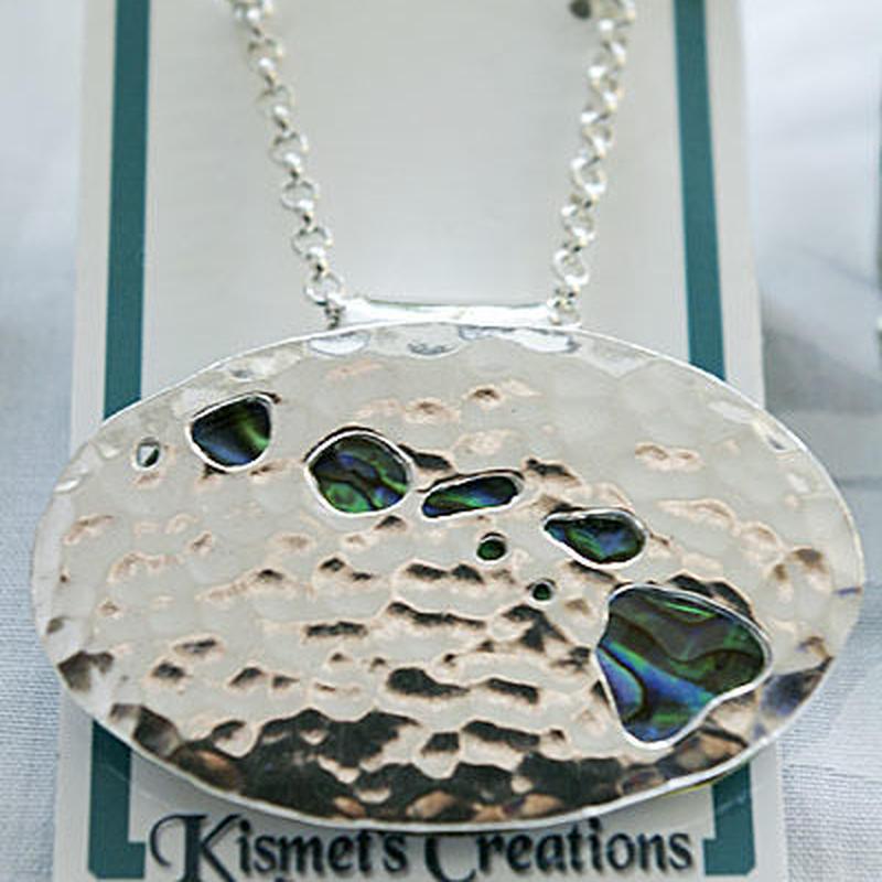 Kismets Creation ハワイアンジュエリー ハワイアイランド アバロニ ネックレス-KANE HNLS01294-78070-HI-L