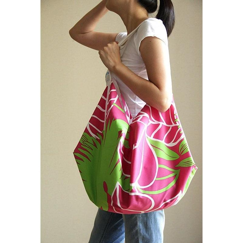 COCOON BAG フラフラ ピンク リーフ HNLS02709-1880