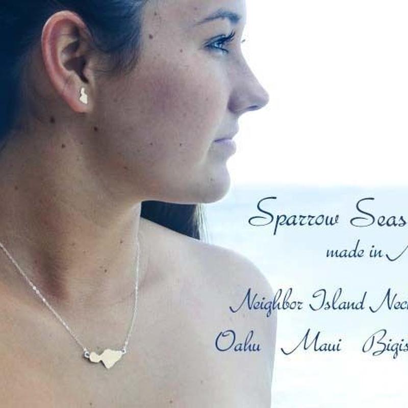 Sparrow Seas ハワイアンジュエリー シルバーネックレス HNLS01939-18230