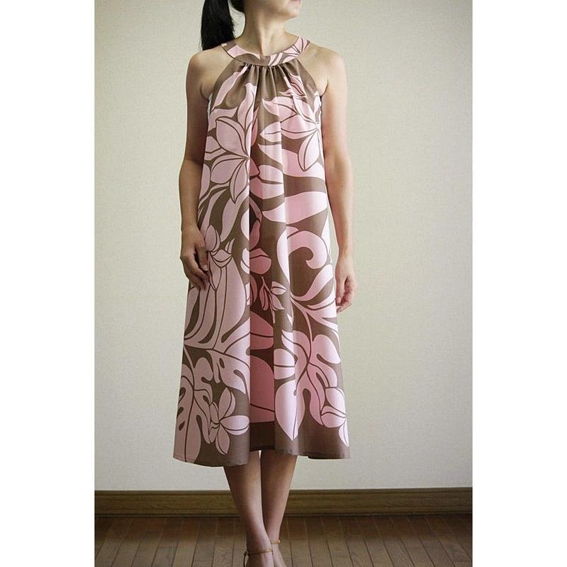 Ginger Dress ピンクプルメリア ジンジャードレス HNLS02693-81210