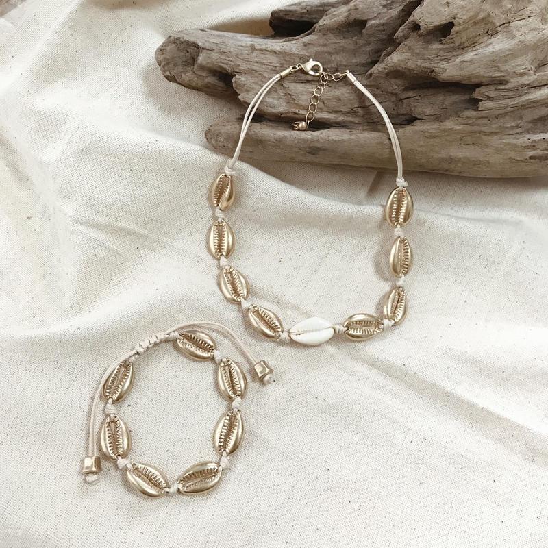 shell bracelet〜white〜