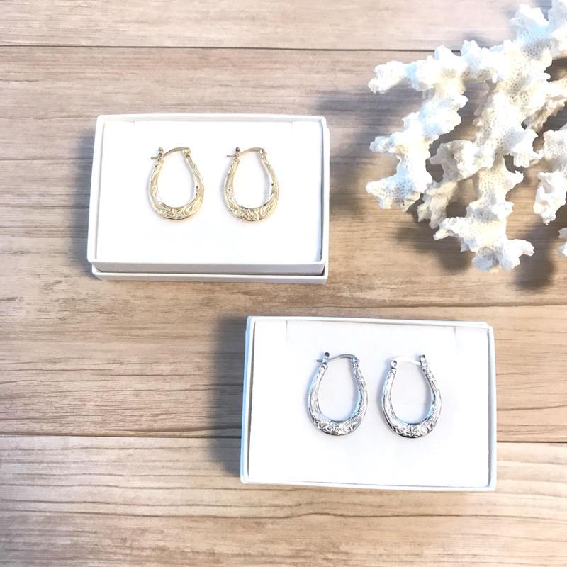 《予約販売:〜2週間待ち》Hawaiian jewelry hoop pierce