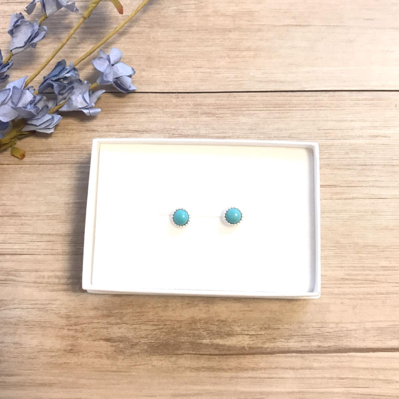 《silver925》turquoise pierce