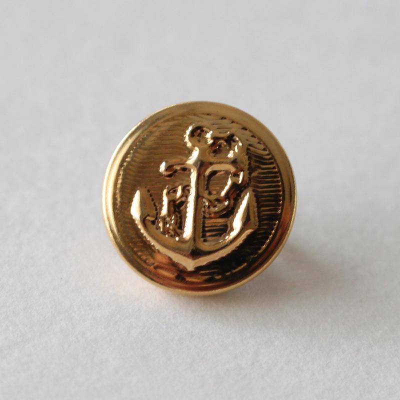 アンカーボタン メタル 1穴13mm フランスヴィンテージボタン