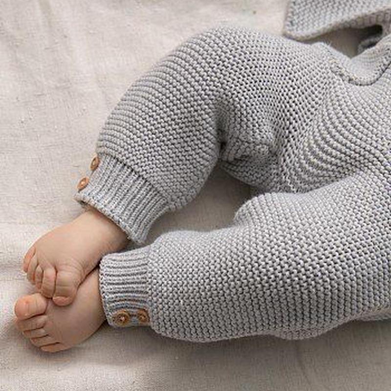 Franceベビー服 Organic cotton ニットパンツ  12M _f028