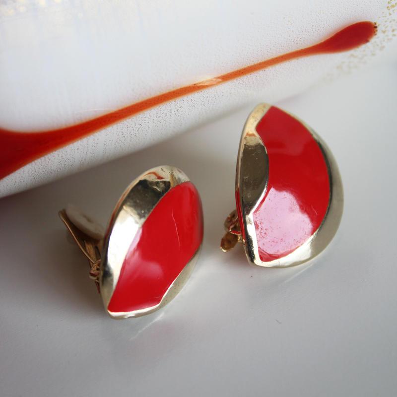 ORENA<オレナ>真っ赤なイヤリング フランス製_221