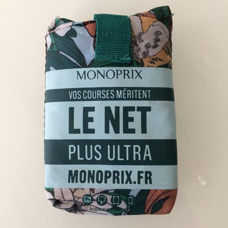 【再入荷】新柄 パリのスーパーMONOPRIX エコバッグ トロピカル柄