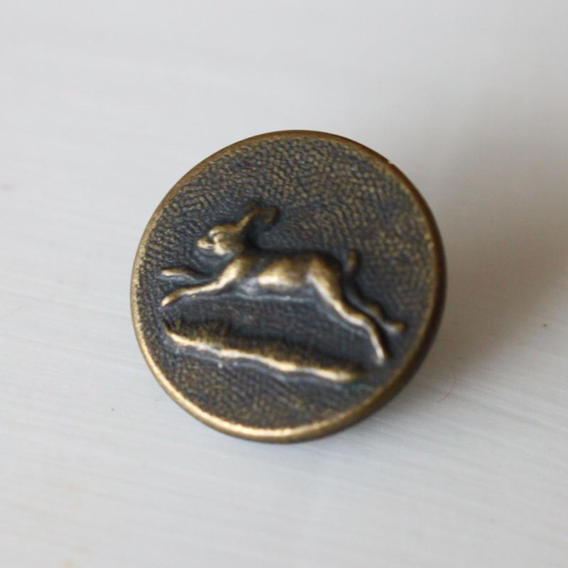 【ハンティングボタン】うさぎ15㎜   メタルボタン フランス
