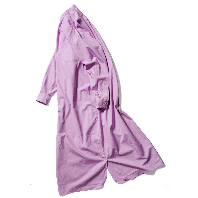 【THOMAS MASON】 BAND COLLAR PULLOVER DRESS