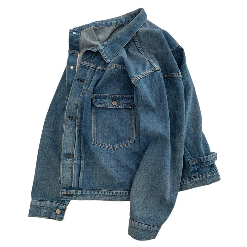 "[CLUEL 3月号 表紙掲載商品]  ""BRENDA""  BIG TRUCKER JACKET [FADE INDIGO]"