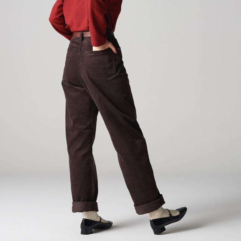 KAY High Waist Corduroy Pants