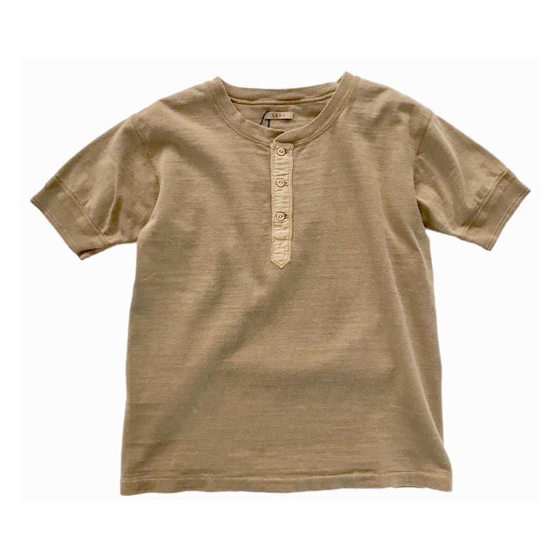 【COFFEE DYED】HALF SLEEVE HENLEY TEE