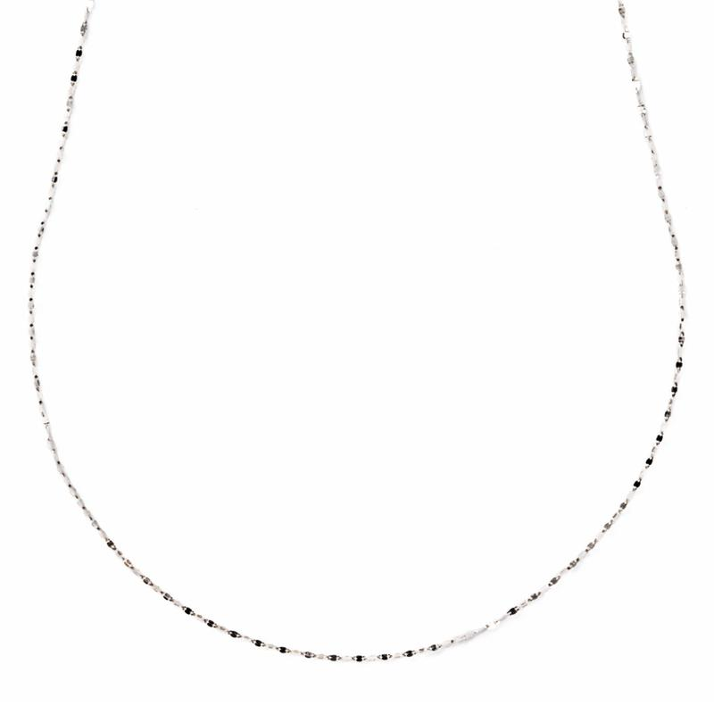 éclair long necklace(white gold)	【エクレアロングネックレス】