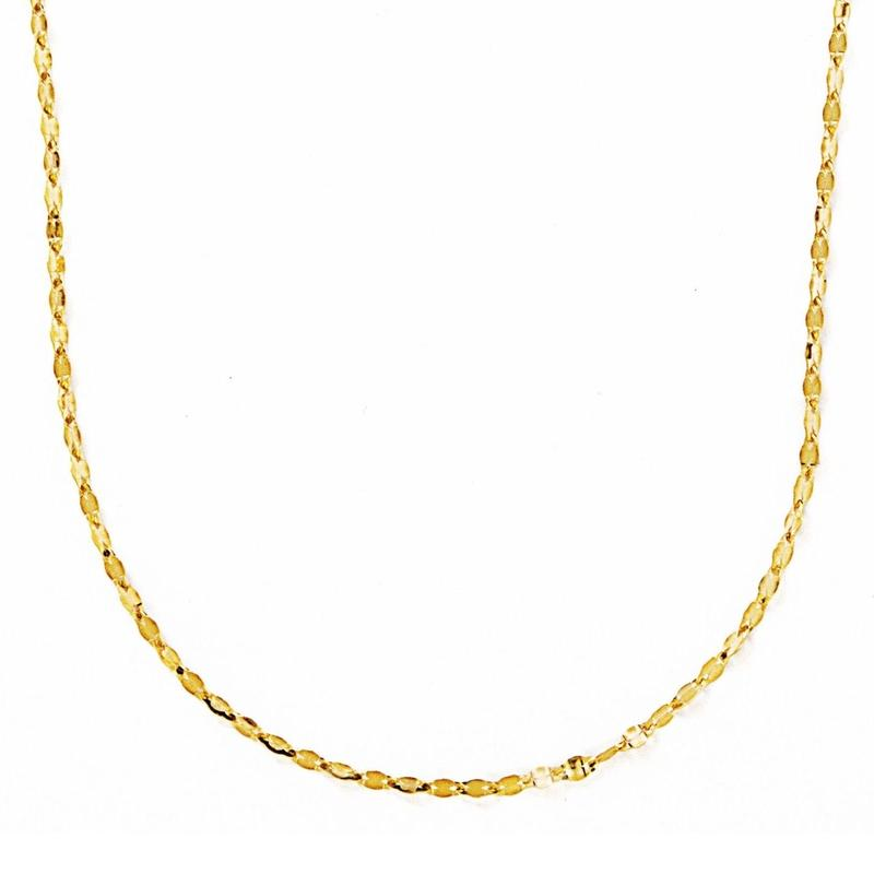 éclair long necklace(yellow gold)【エクレアロングネックレス】