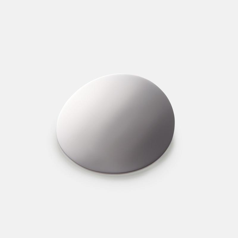 moon broach (60mm / mirror silver)