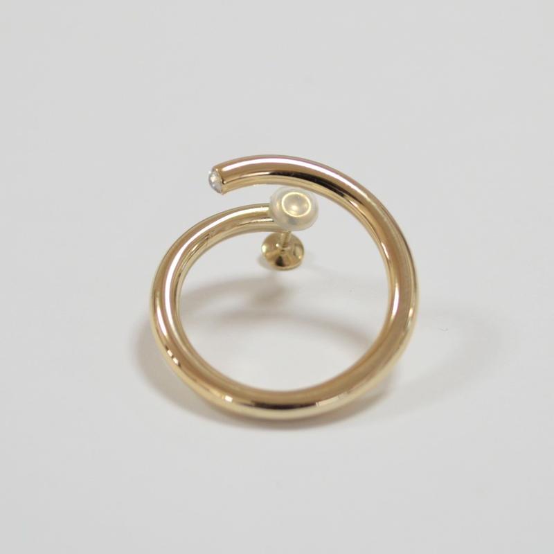 big circle earring (gold)