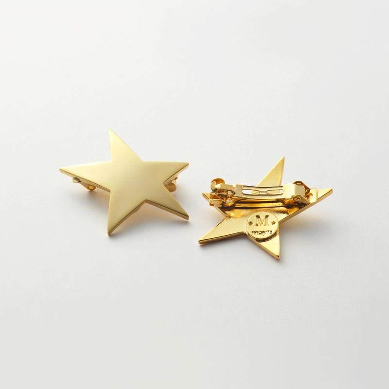 star hair jewelry (40mm star/ mat gold)