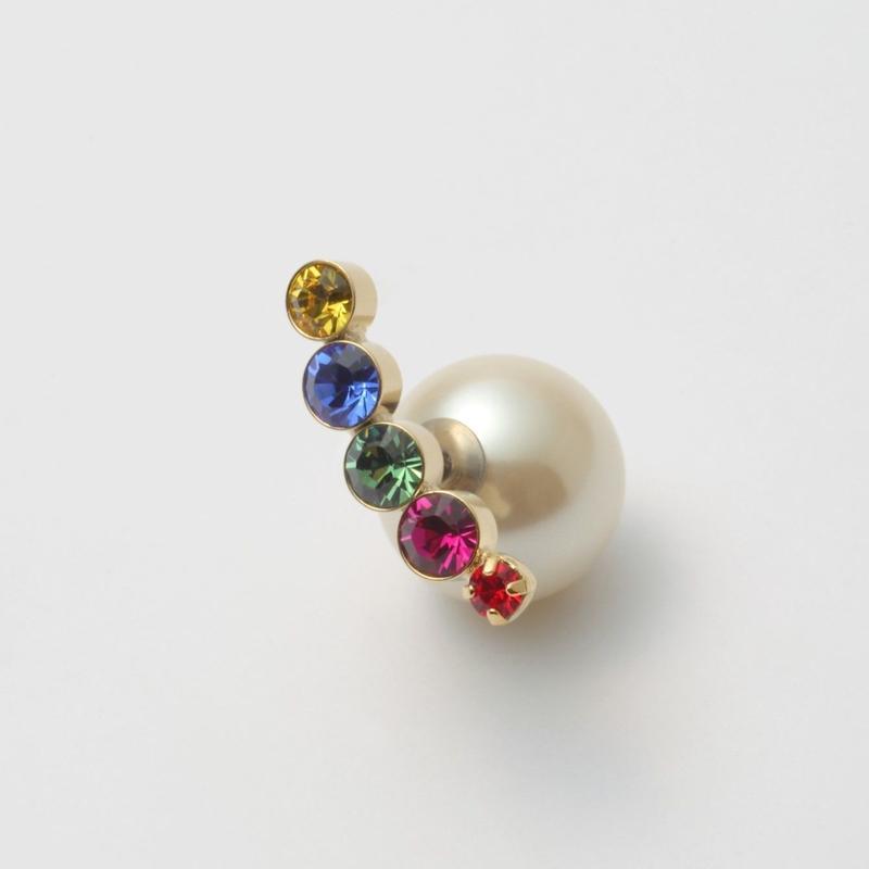 bijoux pierce (5 swarovski / crystal / multi color)
