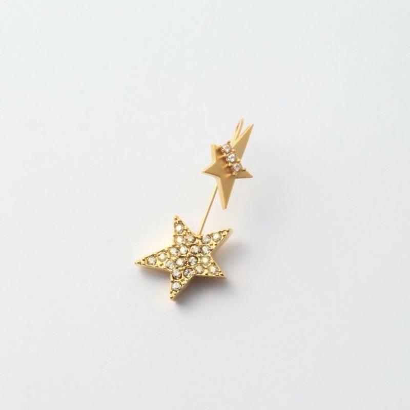 star 3way pierce(K10 post/cubiczirconia/swarovski element)