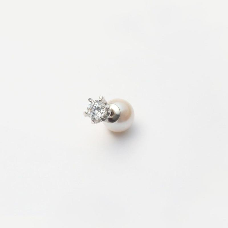 cubic zirconia pierce (small / silver)