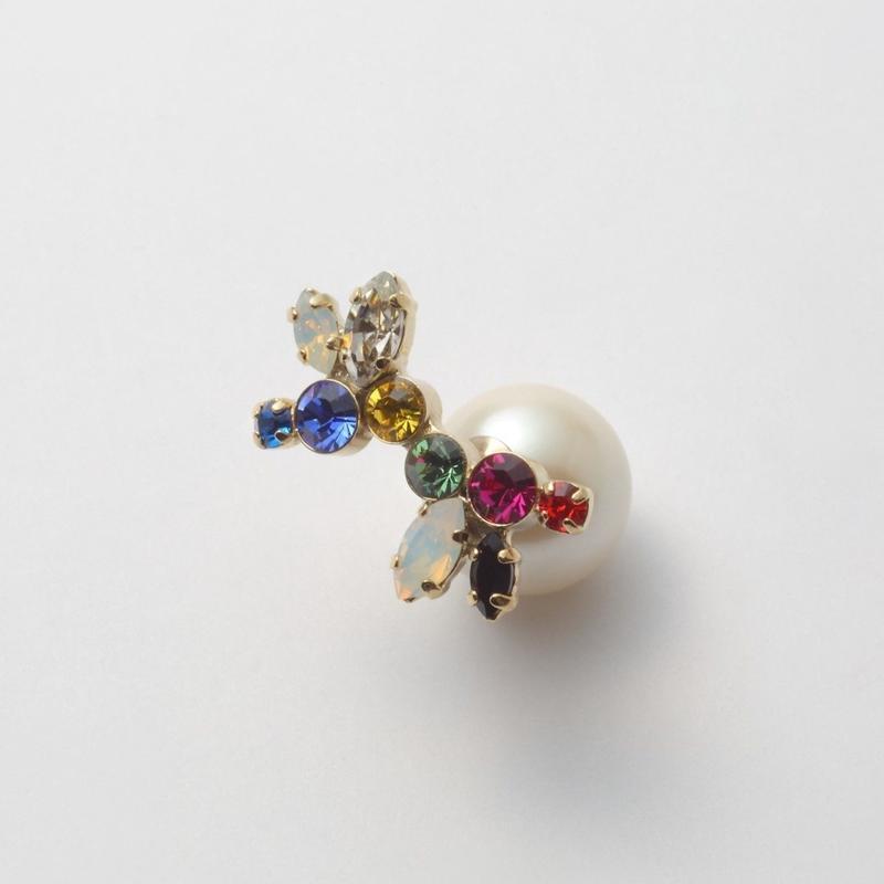 bijoux pierce (crystal / large /multi color)