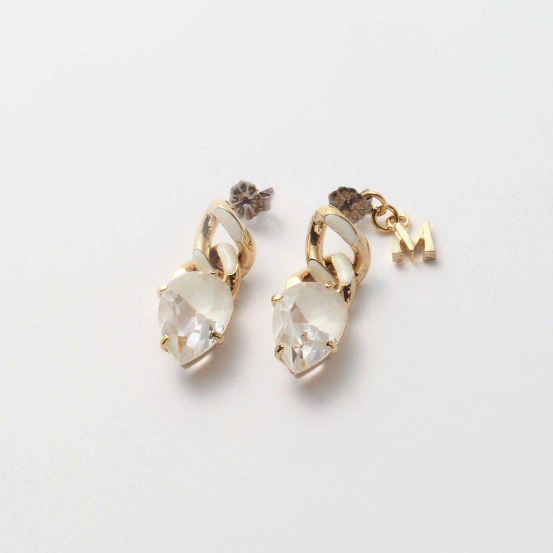 Chain crystal pierce white