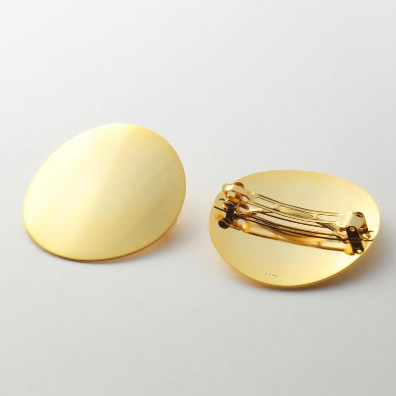 moon hair jewelry (60mm moon/ mirror gold)