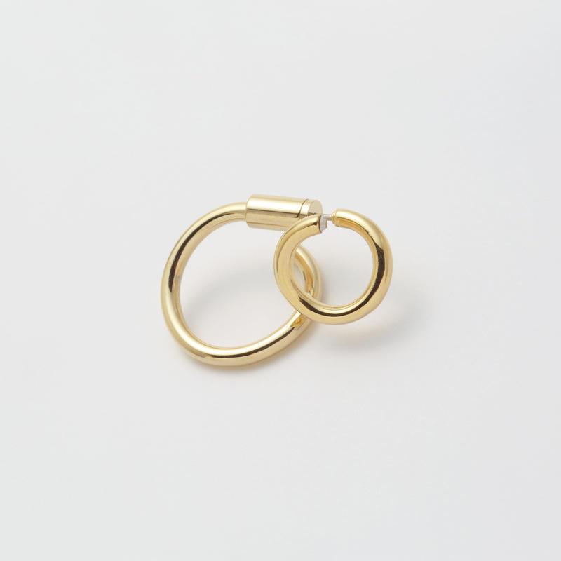 Gold line pierce(8㎜ line×19㎜ line/swarovski elements/Gold)