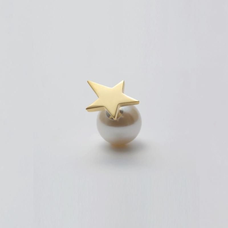 star pierce (small / gold)