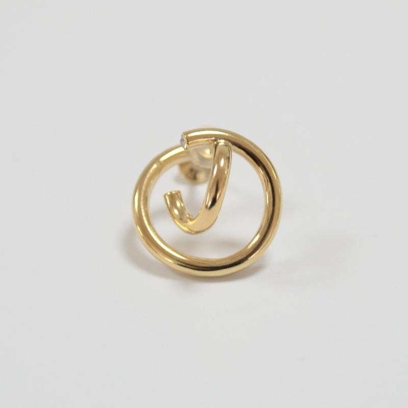 crossing double hoop earring (gold)
