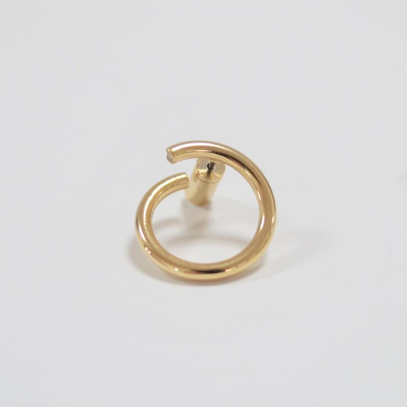 medium circle pierce (gold)