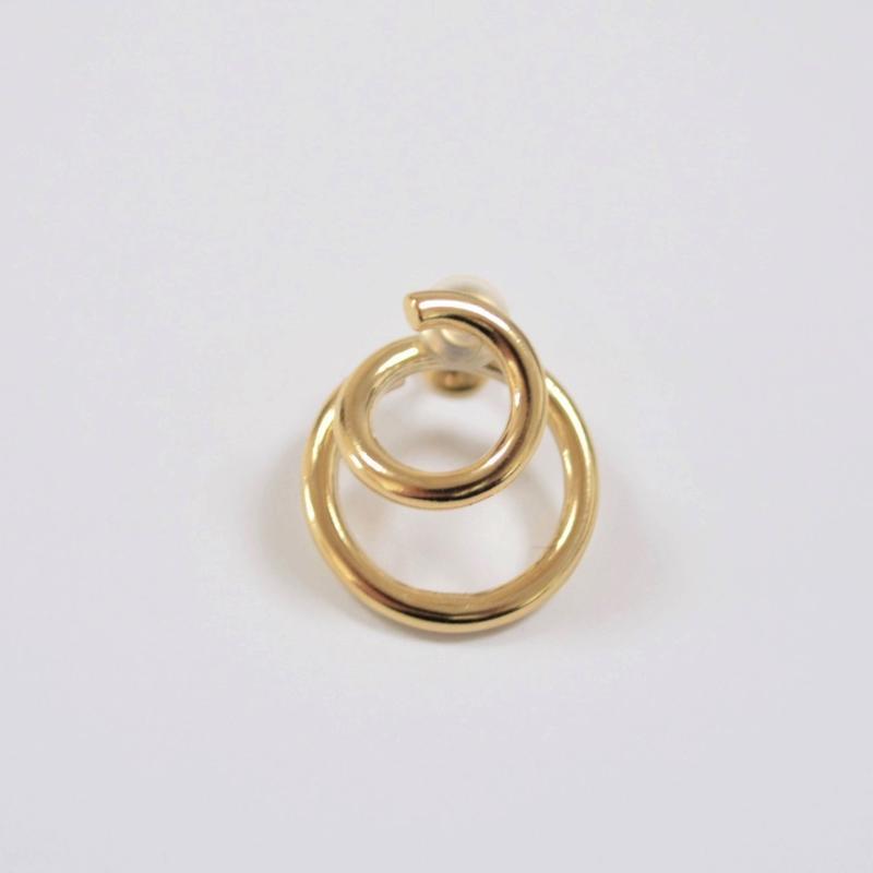 double hoop earring (gold)