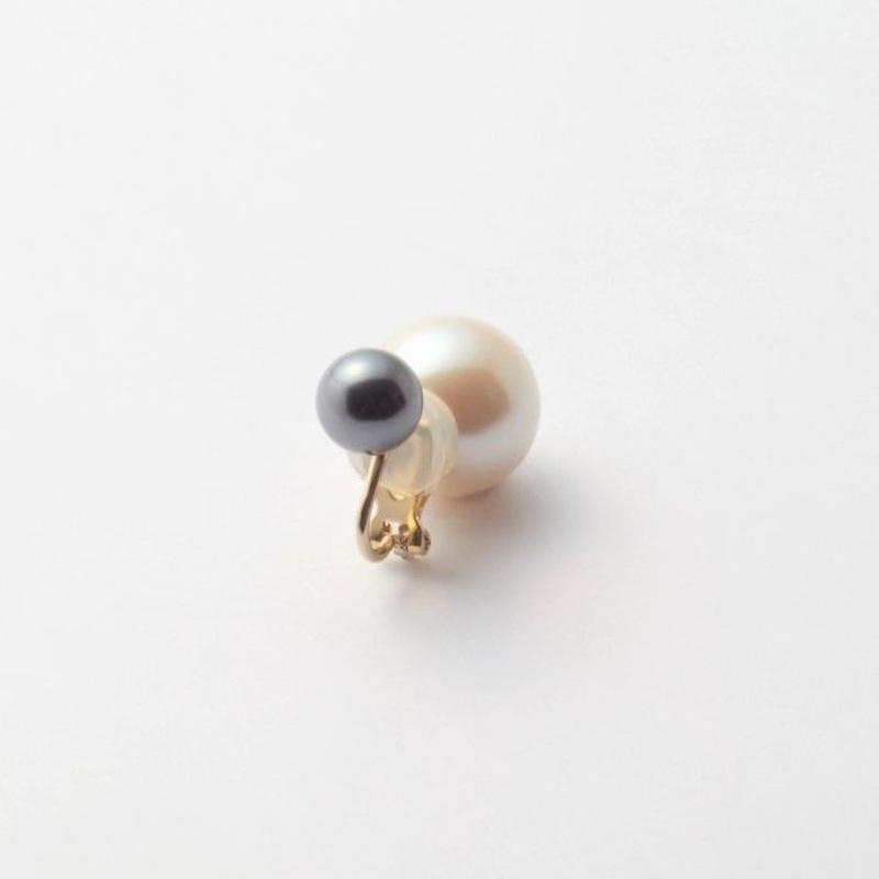 basic pearl rivets earring(dark gray)