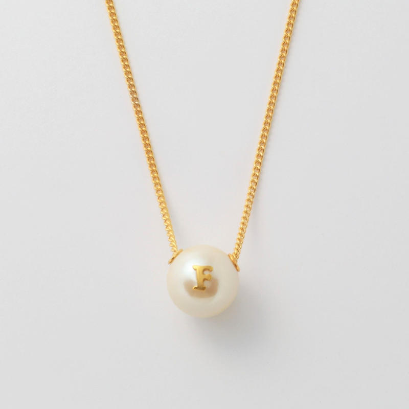 """Initial necklace """"F"""""""