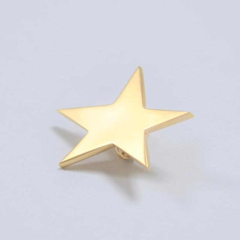 star earring ( large / mat gold )