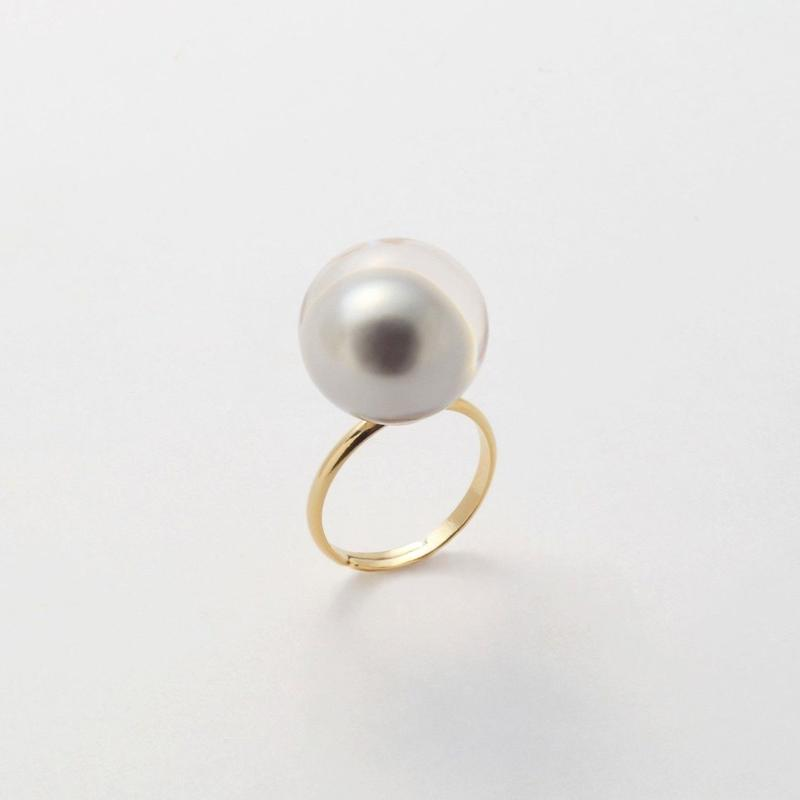 inclusion ring( light gray pearl / small )